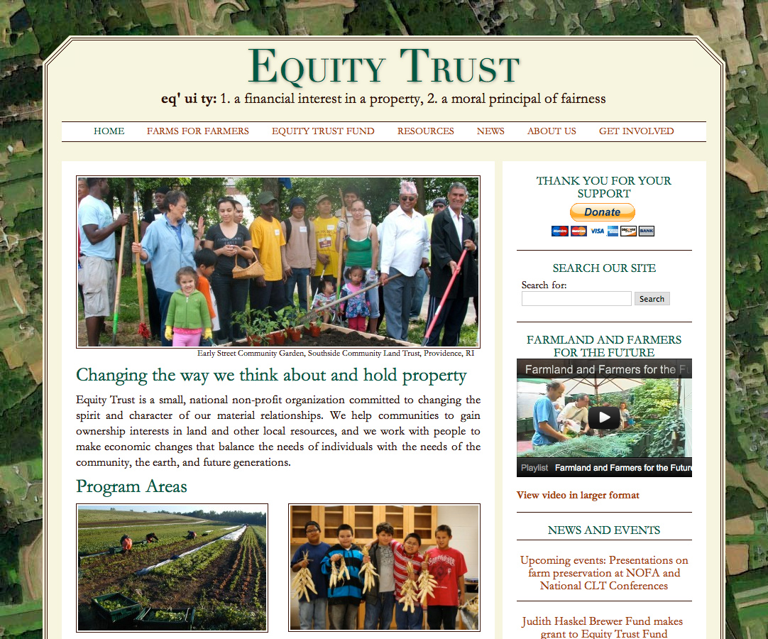 Equity Trust's website