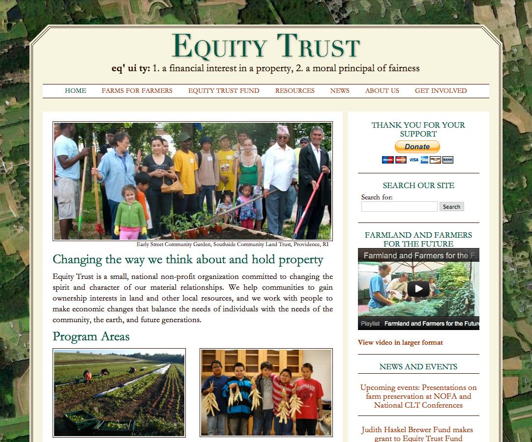 Equity Trust's website
